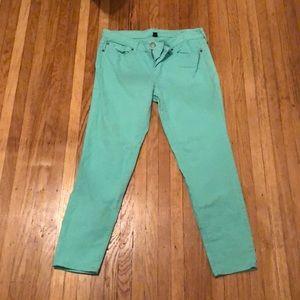 Teal Gap jeans